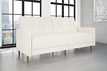 Amazon Com Dhp Andora Coil Futon Sofa Bed Couch With Mid Century