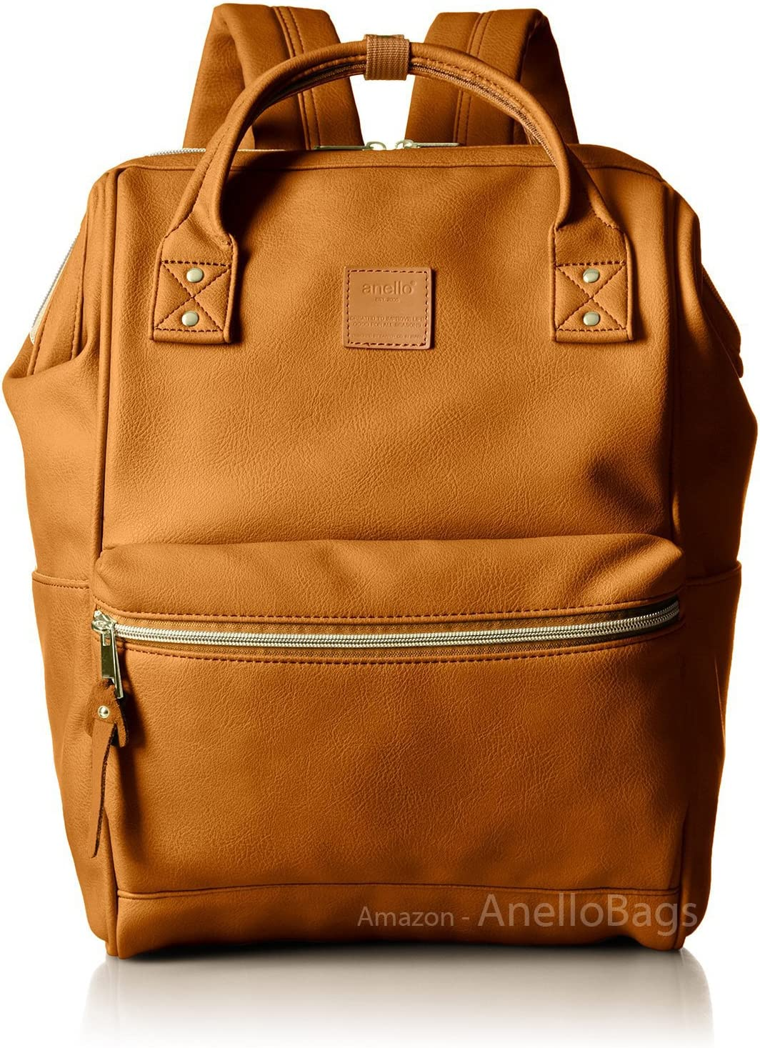 020444442X Japan Anello Backpack Unisex CAMEL BEIGE LARGE PU LEATHER Rucksack Bag Campus 81bjtdNjs4L.SL1500_