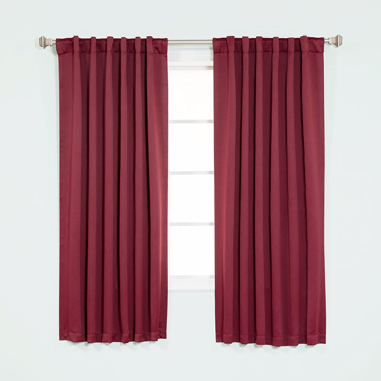 Best Home Fashion Premium Thermal Insulated Blackout Curtains - Back Tab/Rod Pocket - Beige - 40