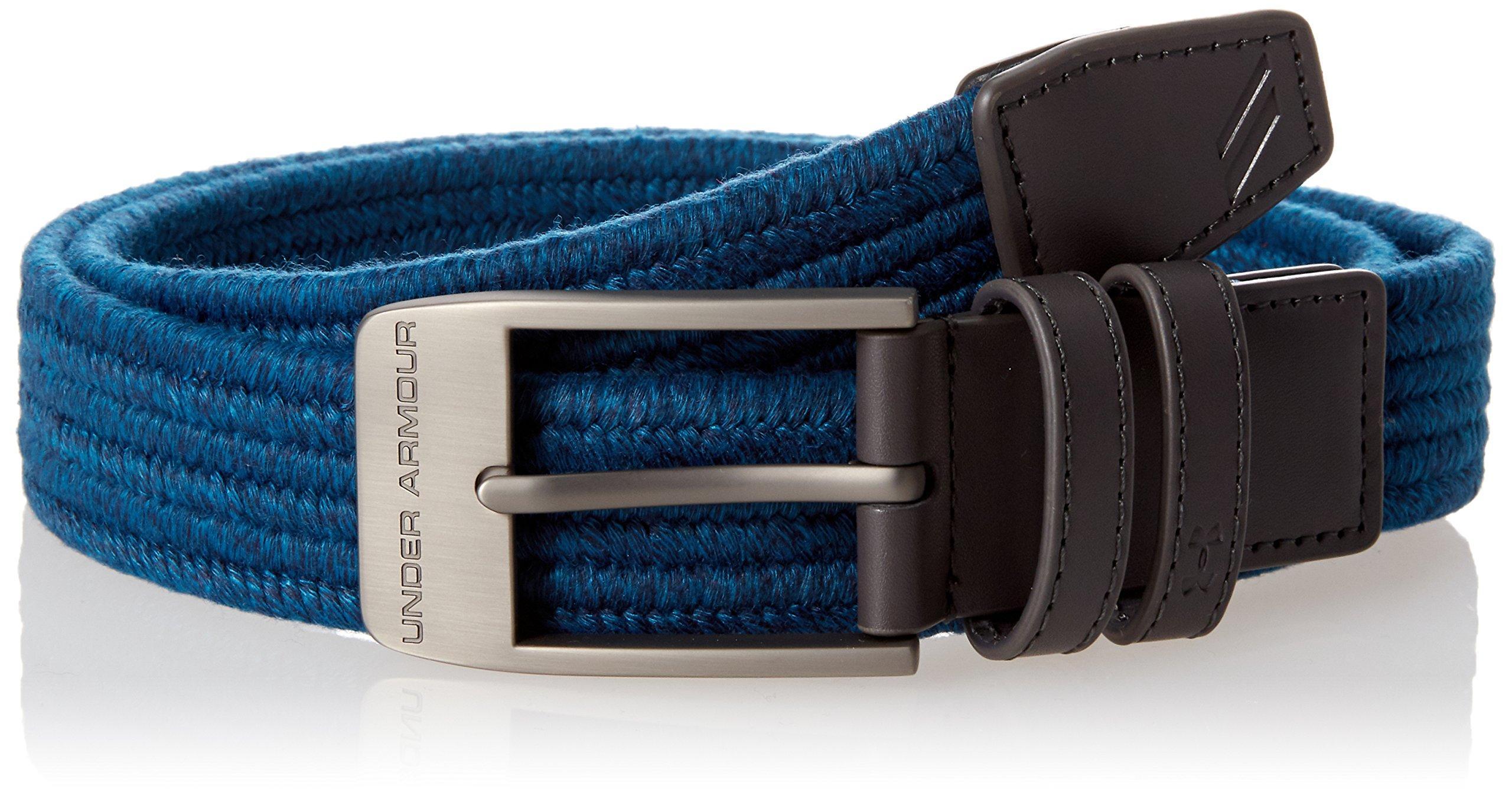 Under Armour Men's Braided 2.0 Belt, Static Blue, 30