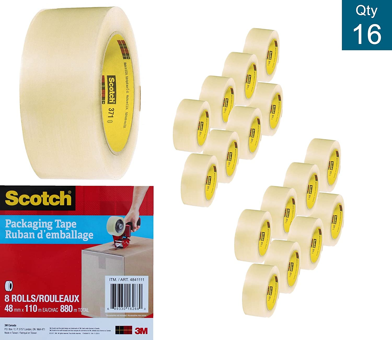 Scotch Shipping Packaging Tape, 48mm x 100m (Per Roll), 16 Rolls, (3710-16 Rolls Pack) 3M SCOTCH