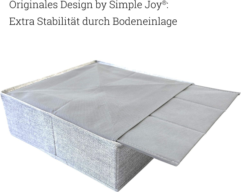 ropa interior; cajas de almacenamiento cajas de tela en color gris sujetador SIMPLE JOY Organizador de cajones para I K E A; base estable; sistema de organizaci/ón para calcetines