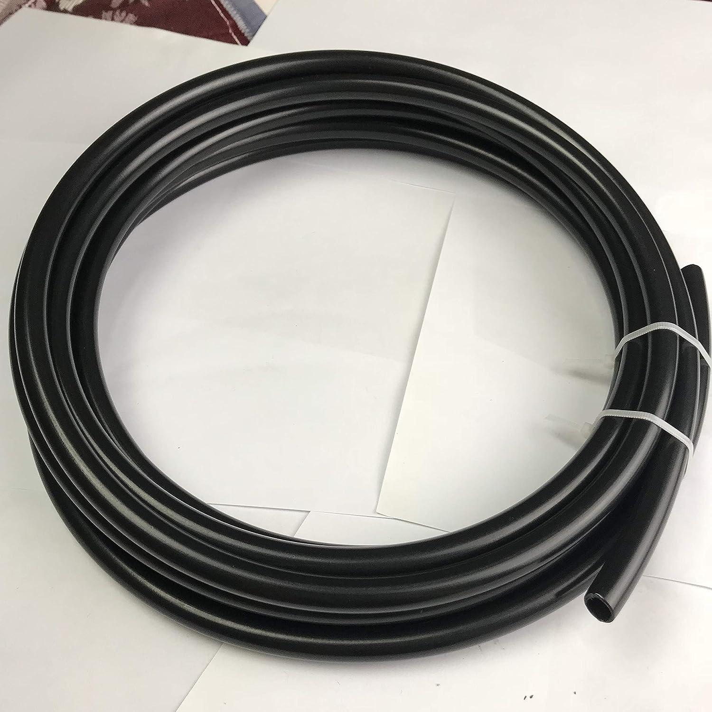 5 feet Nylon Tubing Fuel Line 1//2 12mm ID Tube Pneumatic Hose 16mm 5//8 OD Black