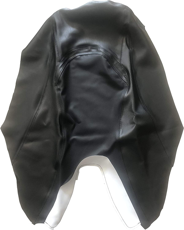 POLIPARTS Funda de Sill/ín de Color Negro con Respaldo Negro para Yamaha T MAX TMAX 500 2008 2009 2010 2011