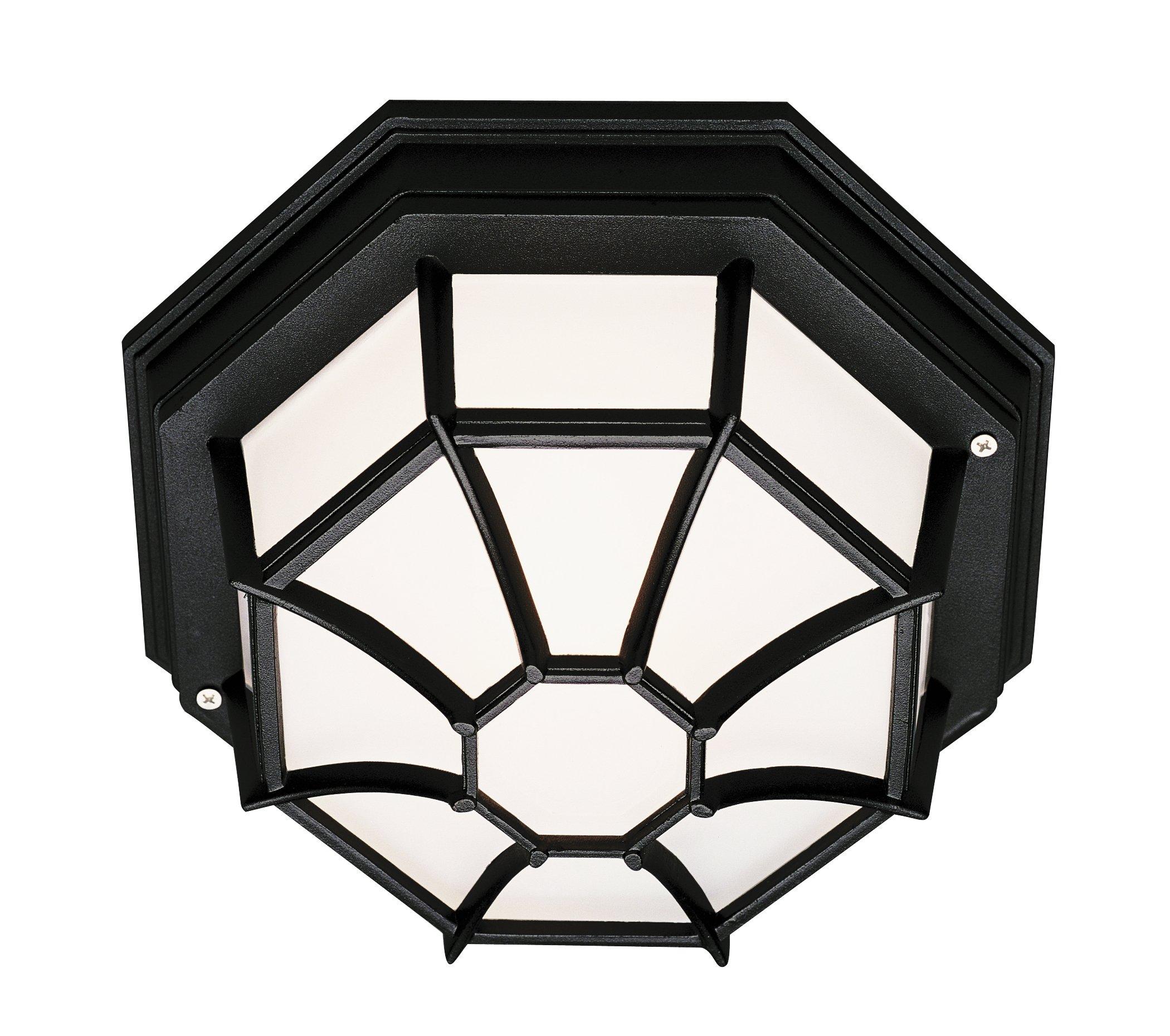 Trans Globe Lighting PL-40582 BK Outdoor Benkert 5'' Flushmount Lantern, Black