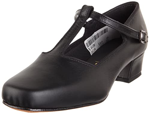 1920s Style Shoes Tic-Tac-Toes Womens 628-Black $87.00 AT vintagedancer.com