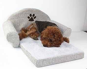 DuoShengZhTG El sofá del paño de Lino del Animal doméstico, Cama del Gato del Perro
