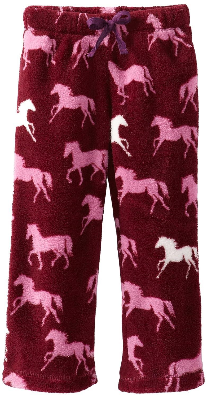 Hatley Little Girls  Kids Fuzzy Fleece Pants-Plaid Horses