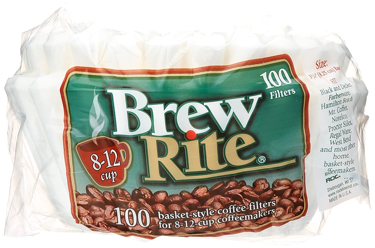 Brew Rite Basket Style Coffee Filter, 100 ct