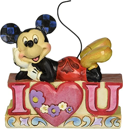 Department 56 Disney Traditions by Jim Shore Mickey I Love You Figurine, 4