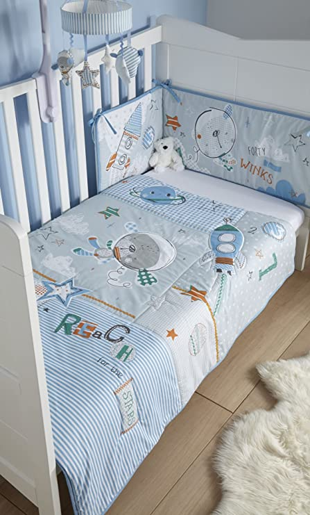 a91bf49ffff Clair de Lune Forty Winks Cot Cot Bed Quilt and Bumper Bedding Set   Amazon.co.uk  Baby