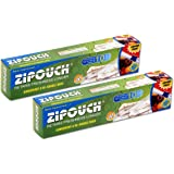 Zipouch Combo of (Fresh-N-Loc Small+Medium 6+6) (Press-N-Loc Small+Medium 4+4) Total of 20 Pouches (Food Storage Bags)