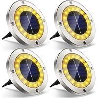 Luz Solar Jardin Decoracion Exterior 16 LEDs, 4Pcs VIRIDI 120LM Foco LED Exterior Solares…