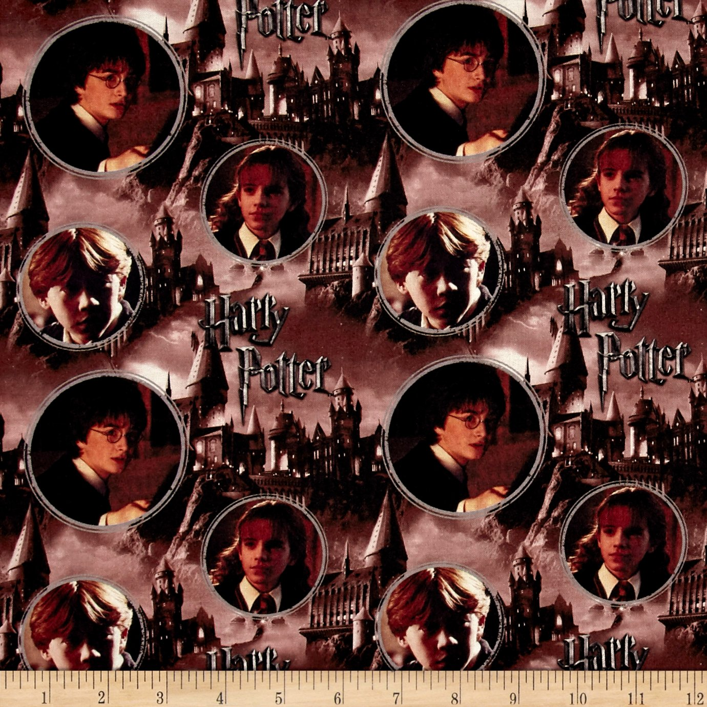 Harry Potter Digital Hogwarts & Characters Multi Fabric By The Yard