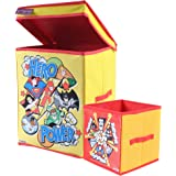 DC SuperFriends Toys Organizer (Set of 2 pcs - Big & Small), Storage Box for Kids