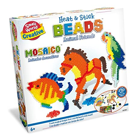 Amazon.com: Small World Toys Creative - Heat and Stick Beads Animal Friends Kit: Toys & Games
