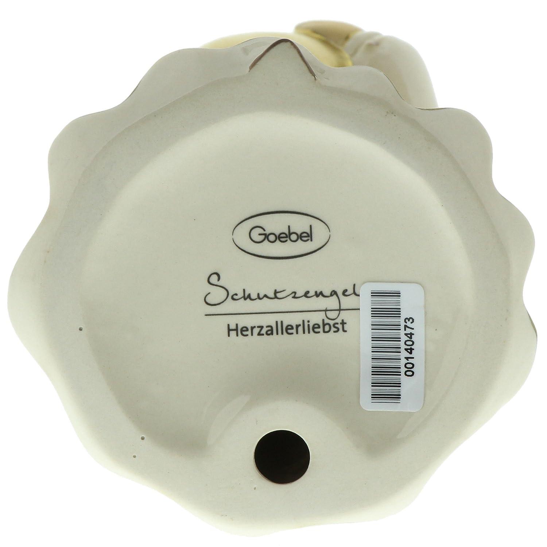 41554291 8 cm x 8 cm x 14,5 cm Bordeaux Porzellan-Schutzengel Herzallerliebst Goebel