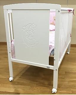 Cuna para bebé, modelo Oso Dormilón + Colchón Viscoelástica + edredón y chichonera Rosa (