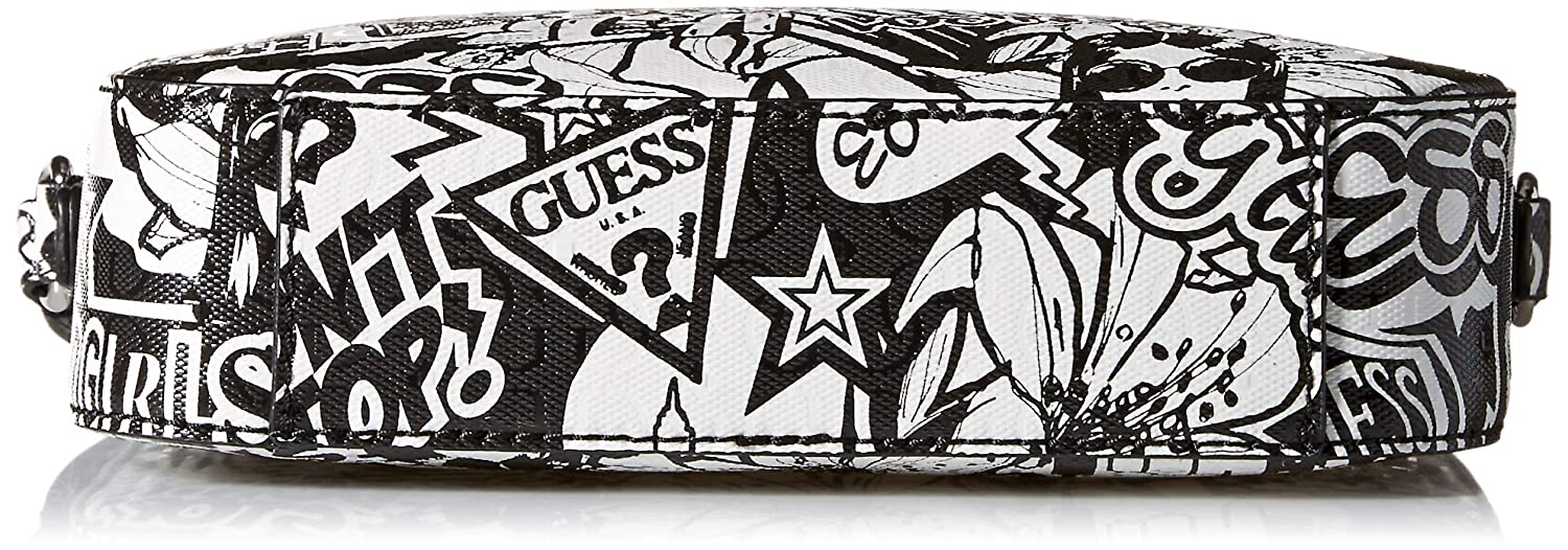 Amazon.com: GUESS Kamryn Graffiti Crossbody Top Zip, talla ...