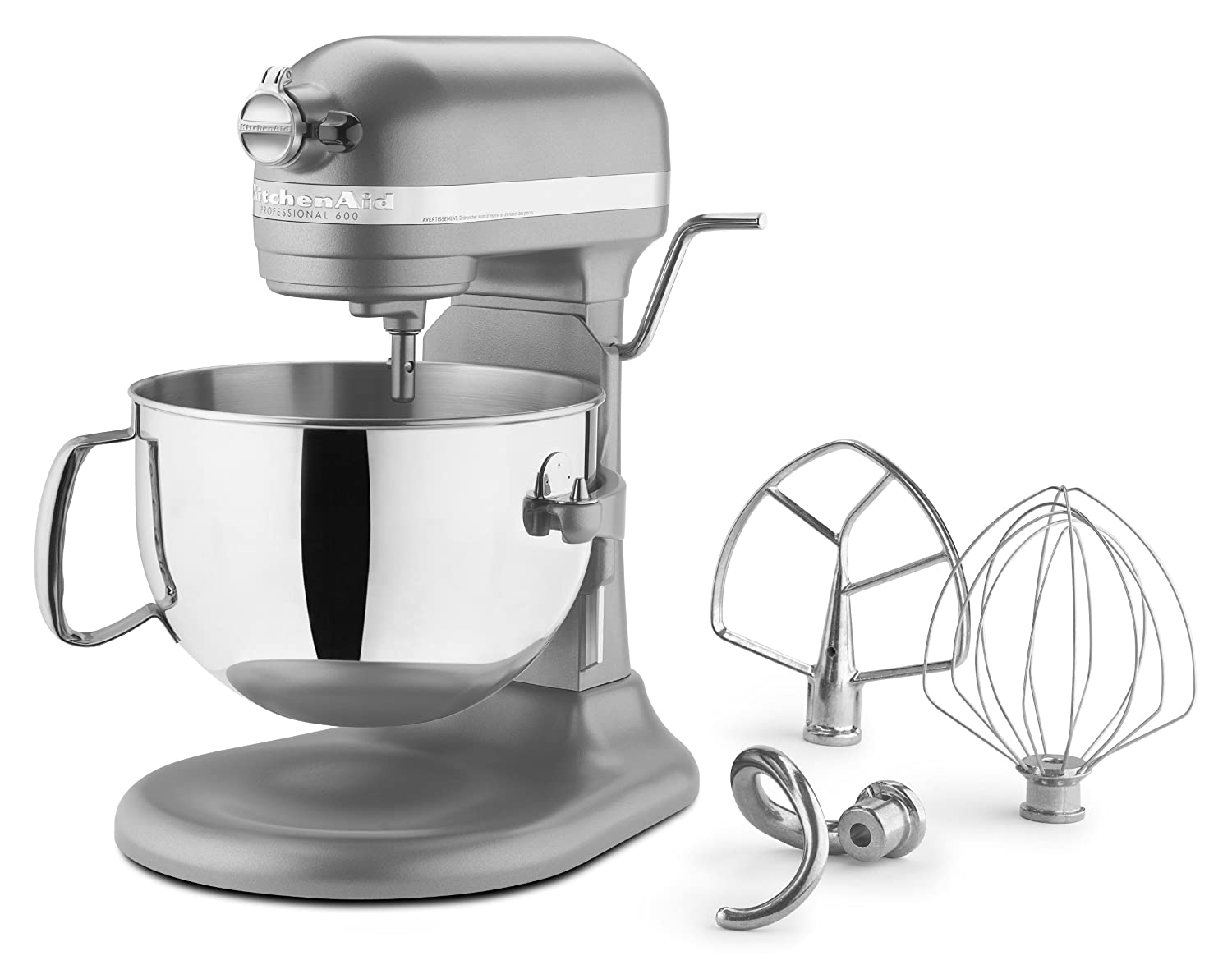 Kitchenaid KP26M1PSL Professional 600 Series 6-Quart Stand Mixer, Silver by: Amazon.es