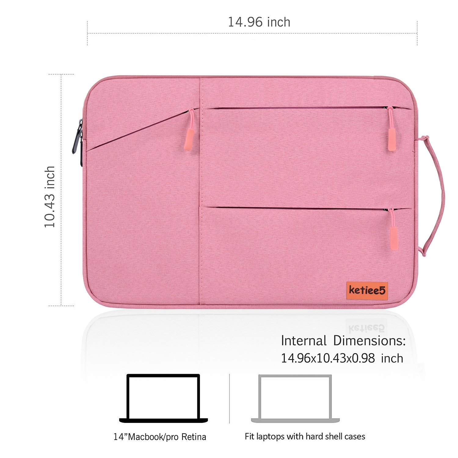 15 Inch Water Resistant Laptop Case with Handle for Acer 14\
