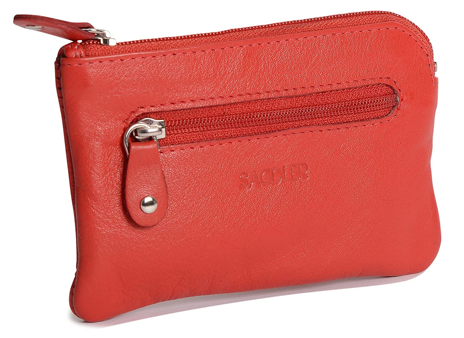 SADDLER Genuine Leather Womens Slim Mini Credit Card Ladies Wallet Change Coin Purse Pouch - Teal SADDL-2060-TEAL