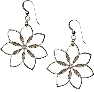product image for Flower Power! Silver-dipped Earrings on French Hooks