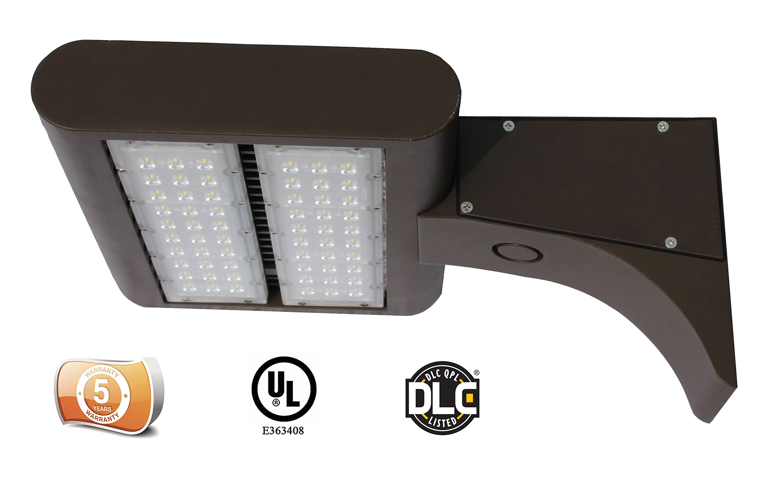 DLC Listed LEDrock Electra Series 150 Watt LED Area Light, 4000K Neutral White, 120V-277V, Comparable to 400W MH, 15,131 Lumens, Pole Arm Mount Area Light, UL Listed, Warranty Based in Denver, CO, USA