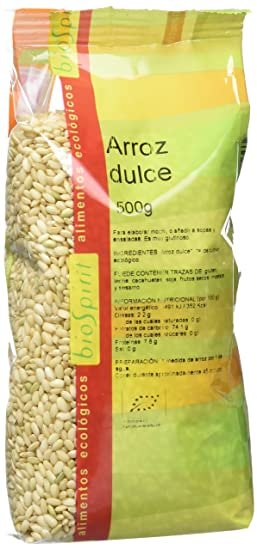 Biospirit Arroz Dulce de Cultivo Ecológico - 3 Paquetes de 500 gr - Total: 1500