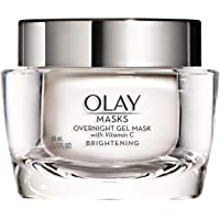 Face Mask Gel by Olay Masks, Overnight Facial Moisturizer with Vitamin C and Hyaluronic Acid for Brighter Skin, 1.7 Fl…