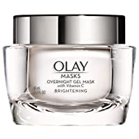 Face Mask Gel by Olay Masks, Overnight Facial Moisturizer with Vitamin C and Hyaluronic...