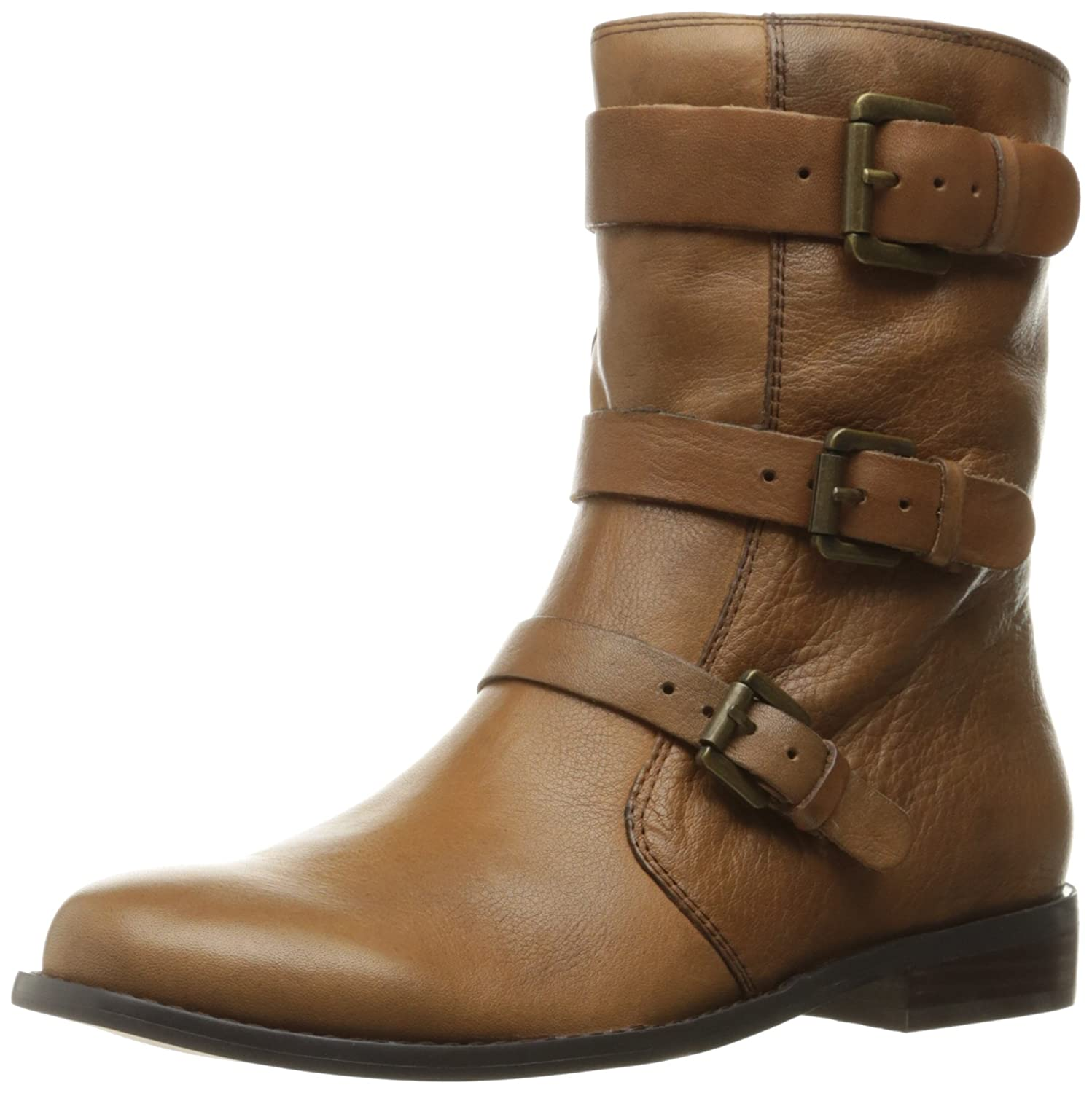 Corso Como Women's Kandace Motorcycle Boot B01IPZRR4I 8.5 B(M) US|Tobacco Tumbled Leather