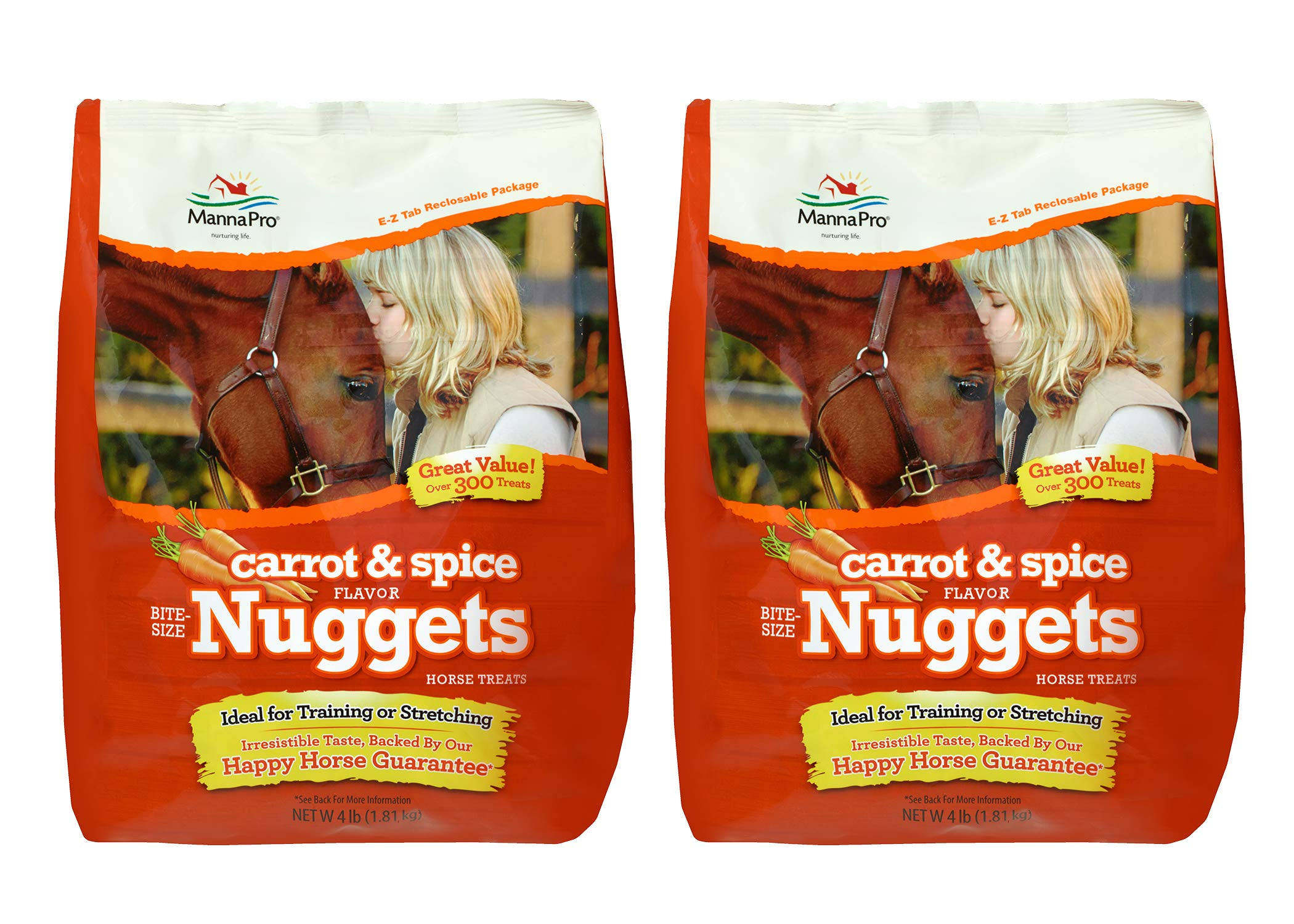 Manna Pro Horse Treat Multipack Carrot and Spices, 4 Pounds (Pack of 2) by Manna Pro