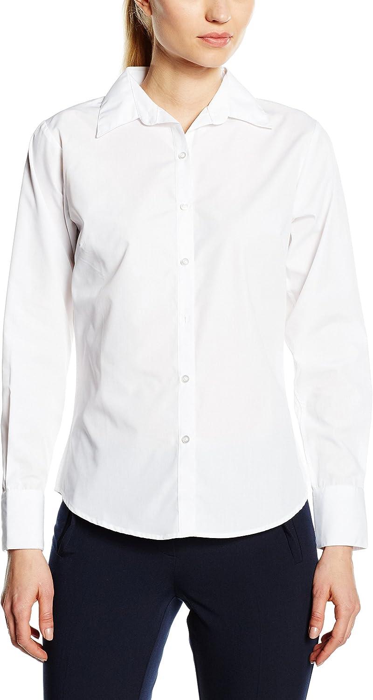 Premier Workwear Ladies Poplin Long Sleeve Blouse Blusas para Mujer: Amazon.es: Ropa y accesorios