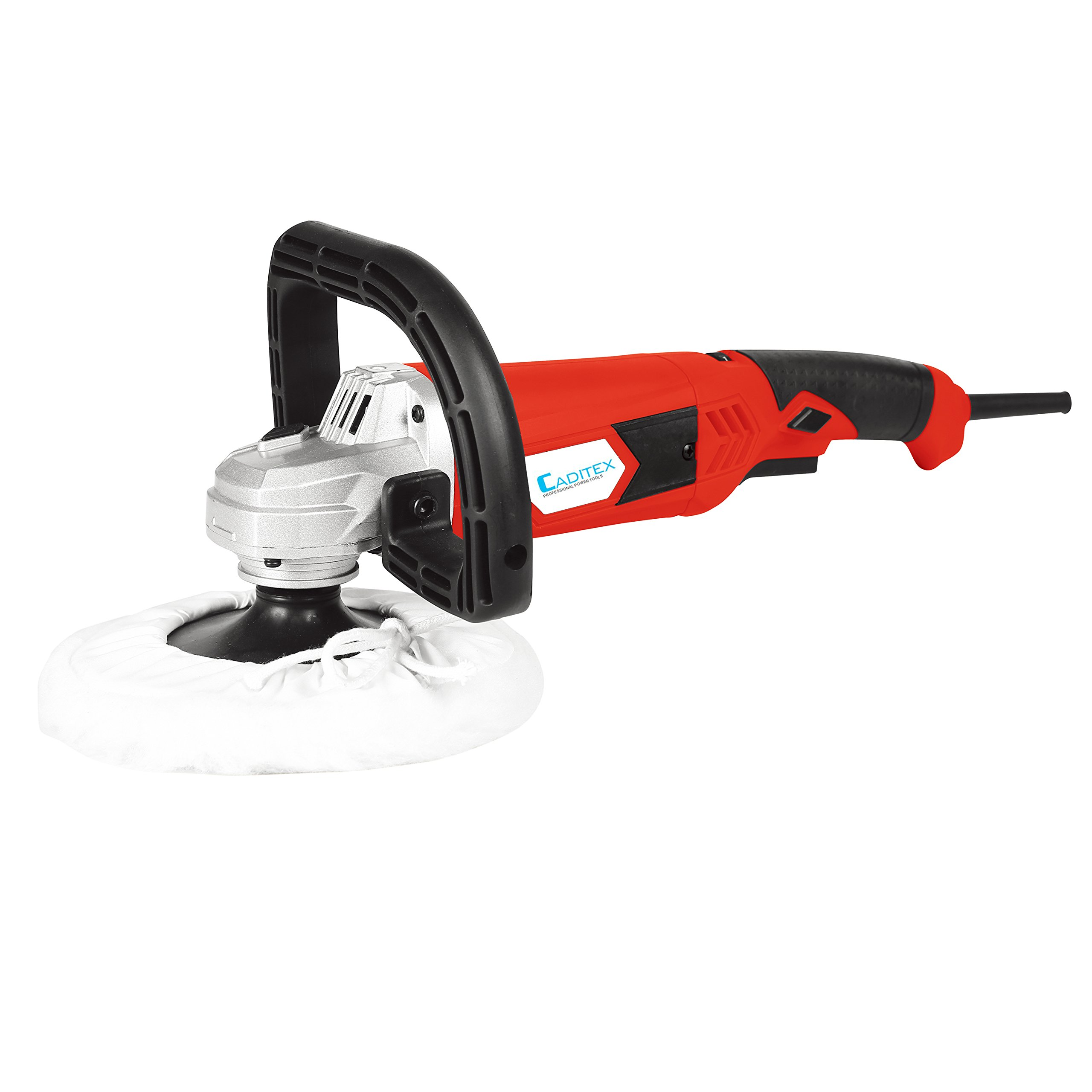 CADITEX Brand 10.0-Amp Variable Speed Polisher with 1 Polishing Plate, 1 Wool Sleeve, 1 D-shape Handle and 1 Inner Hexagon Spanner
