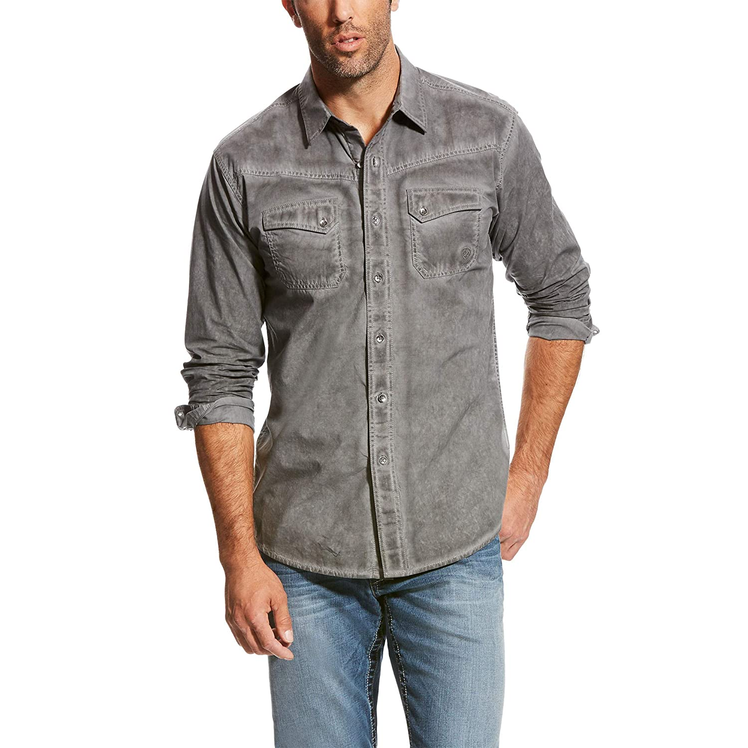Ariat Mens Retro Fit Long Sleeve Snap Shirt