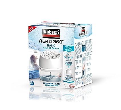 Rubson Aero 360º Baños Deshumidificador Para El Baño, Color Blanco