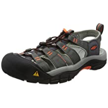 KEEN Men's Newport H2 Hiking Shoe, Magnet/Nasturtium, 11.5 M US