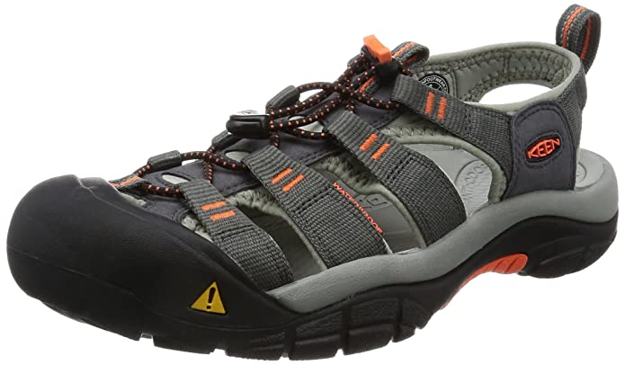 KEEN Men's Newport H2 Hiking Shoe, Magnet/Nasturtium, 7.5 M US best supportive sandals for men
