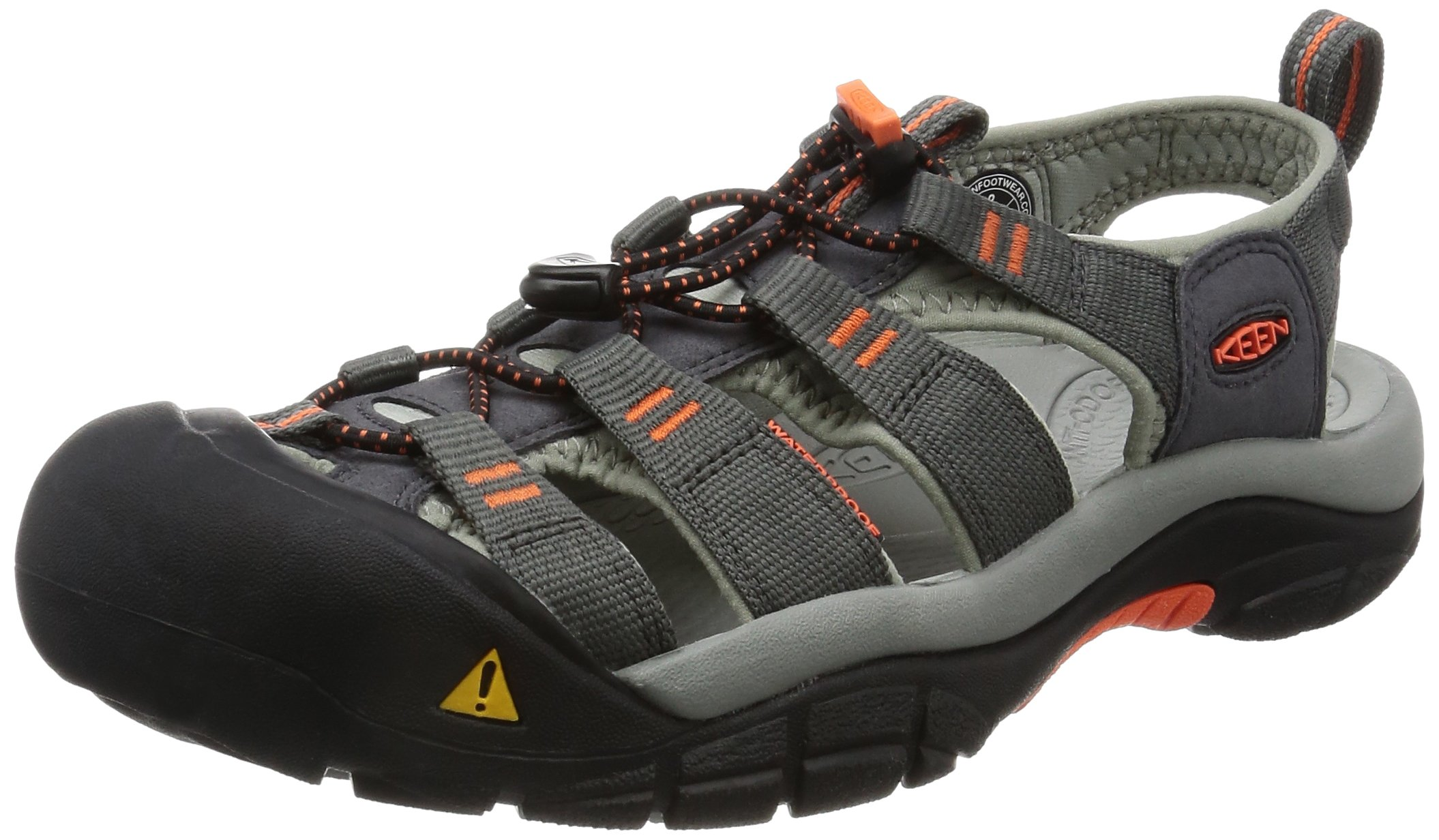 KEEN Men's Newport H2 Hiking Shoe, Magnet/Nasturtium, 11 M US