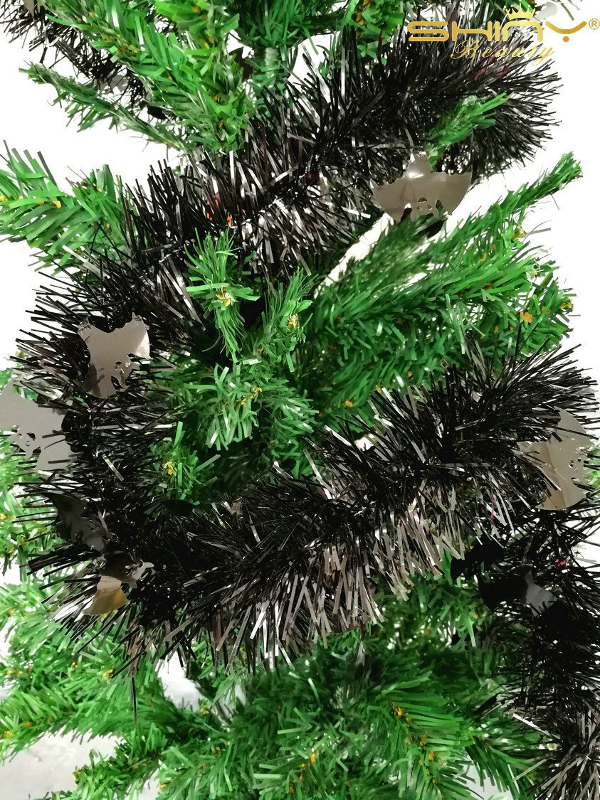 3 Pieces Tinse Garland For Halloween Tree or Door Windows Decoration, Shinny Party Accessory TG005