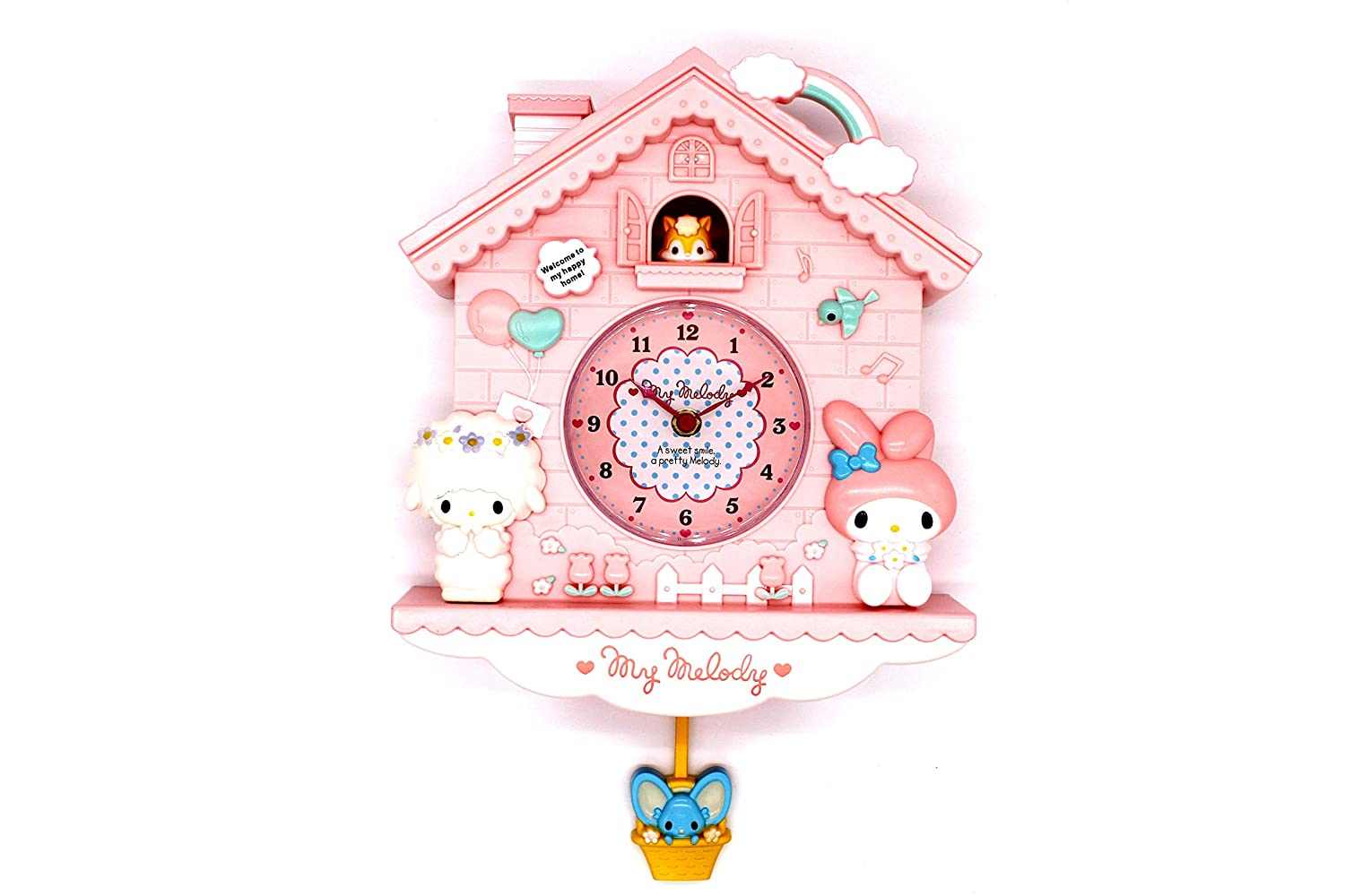 Amazon.com: Rustic Golbary Gifts Cuckoo Nursery Wall Clock Pink with Pendulum Mouse House with Bunnies Adorable Infant Boys & Girls Gift (Pink): Home & ...