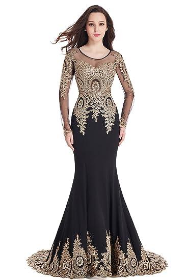 Babyonlinedress Babyonline Black Lace Mermaid Evening Dresses