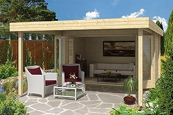 Carlsson Holz Gartenhaus HOLSTEIN 40   Blockbohlenhaus mit Boden