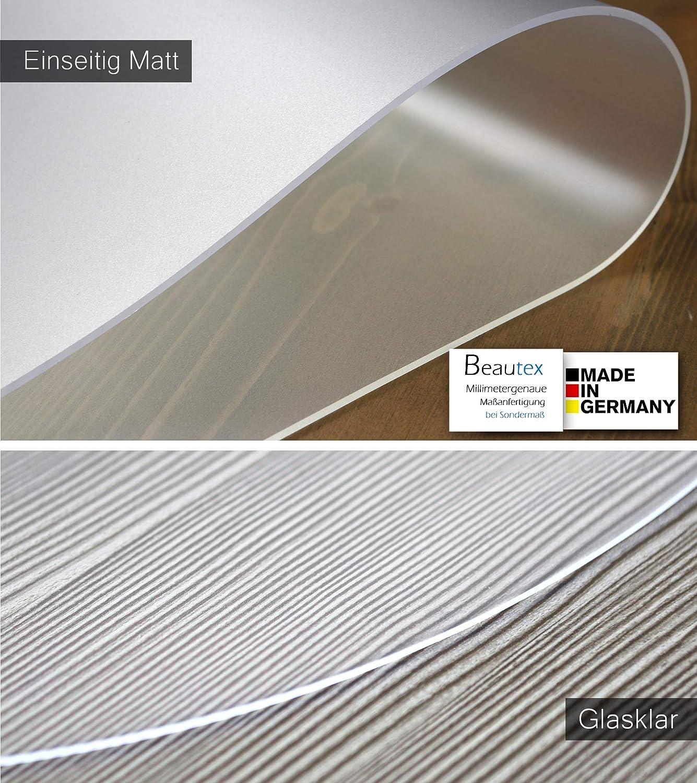 Beautex Film de protection d/écran transparent 2 mm PVC Eckig 80 x 80 cm Transparent