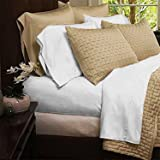 Mandarin Home Luxury Bamboo Bed Sheets - Eco-friendly, Hypoallergenic and Wrinkle Resistant - 4-Piece -(Queen, White)