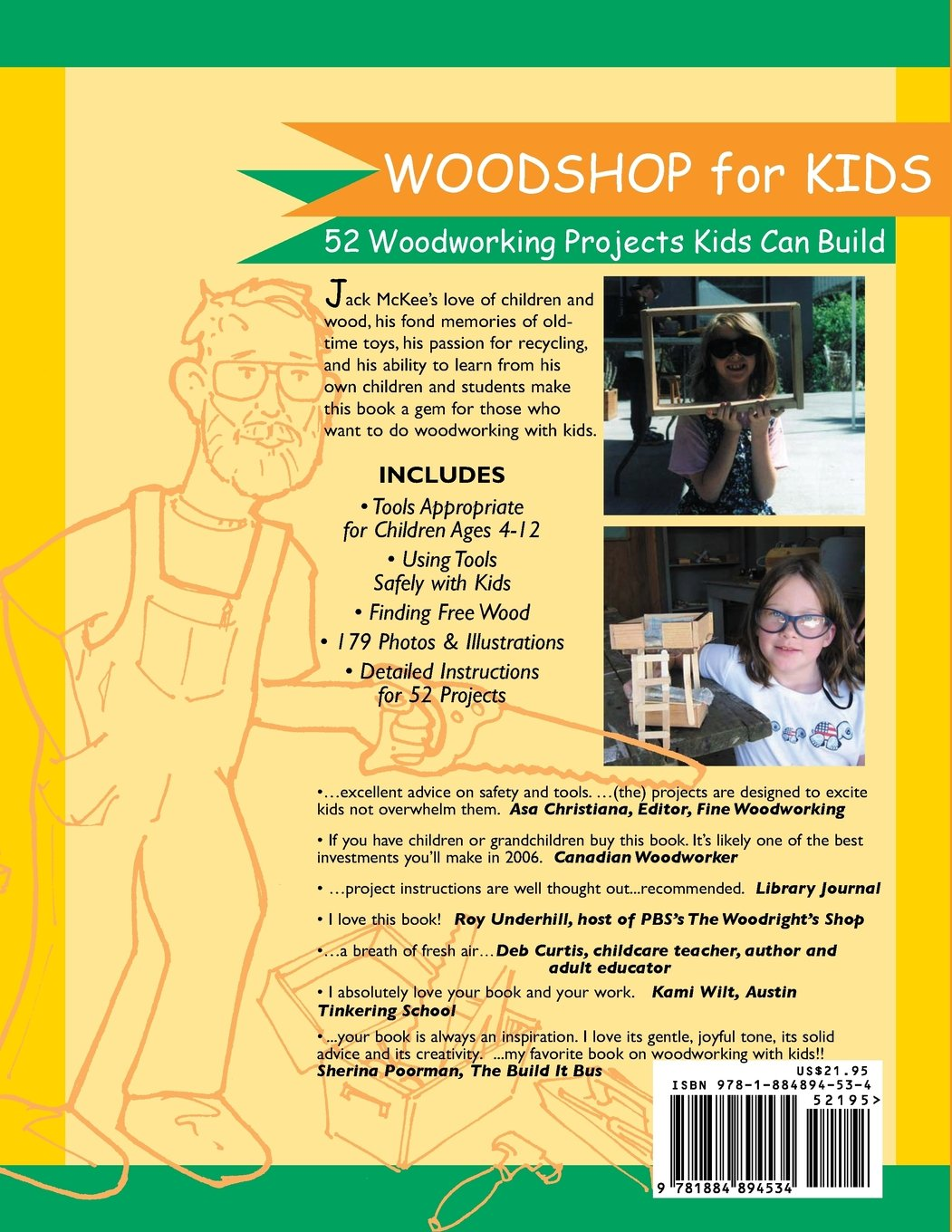 Woodshop for kids jack mckee 9781884894534 amazon books fandeluxe Image collections