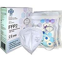 FFP2 Beschermend masker - Doos 10 stuks - CE-gecertificeerd, met elastieken & aanpasbare neusklem | 5 Filtratiediktes…