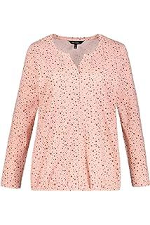 ee098f0333d Ulla Popken Femme Grandes Tailles T-Shirt col Tunisien imprimé ...