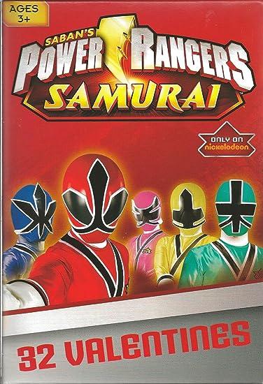 Amazoncom Power Rangers Samurai Valentine Cards for Kids